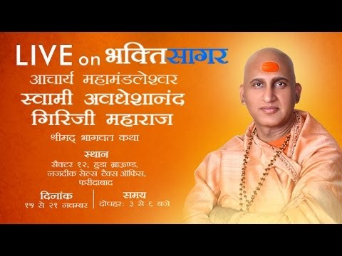 Shreemad Bhagwat Katha By Swami Avdeshanand ji in November, 2014 at Haryana